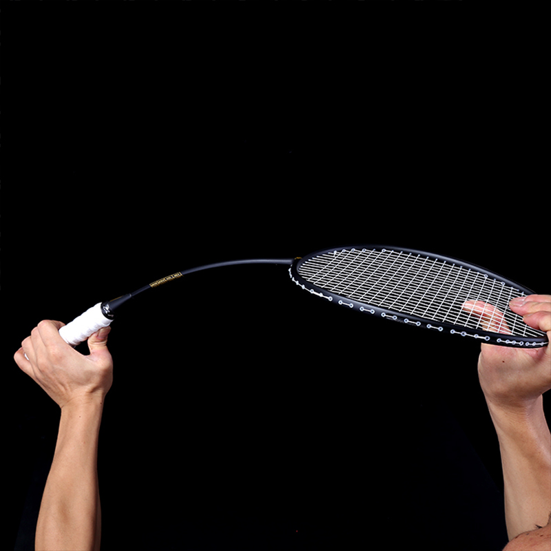 Ultralight 6U Badminton Racket Professional Carbon Portable Free Grips Sports BHD2
