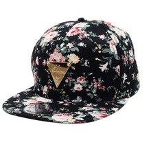 Hombres Mujeres gorra de béisbol Hip Hop gorras flor Floral Snapback del  sombrero de Hip- debddc44596