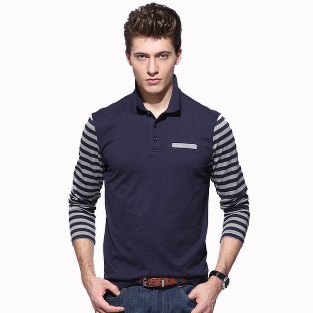 2017 Brand New Polo Hombre Shirt Men Fashion Slim Fit Collar shirts Long Sleeve Casual Camisetas Masculinas Polo Men