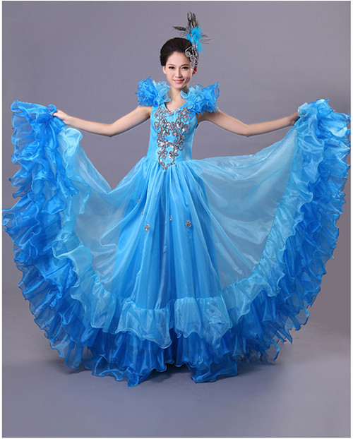 a5a053cf0 Flamenco Skirt SPANISH SENORITA RUMBA SALSA FLAMENCO DANCER DANCE ...