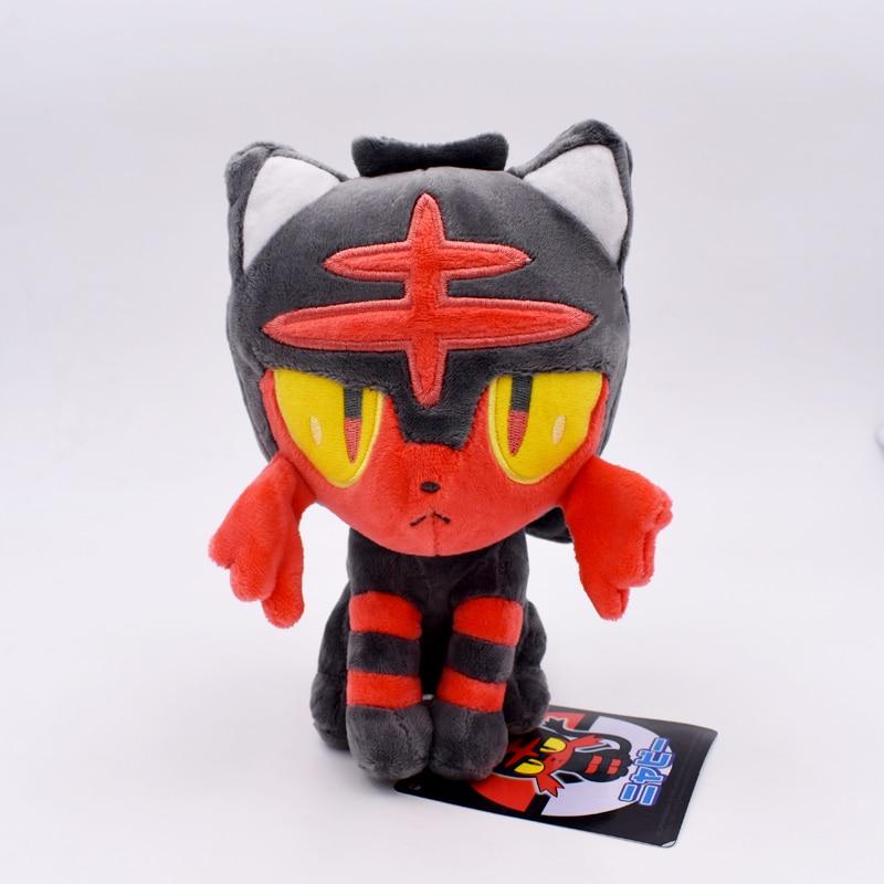 Cute Cartoon Pikachu Plush Toys 18-20cm Litten Soft Stuffed Dolls Children Birthday Gift Present Free Shipping