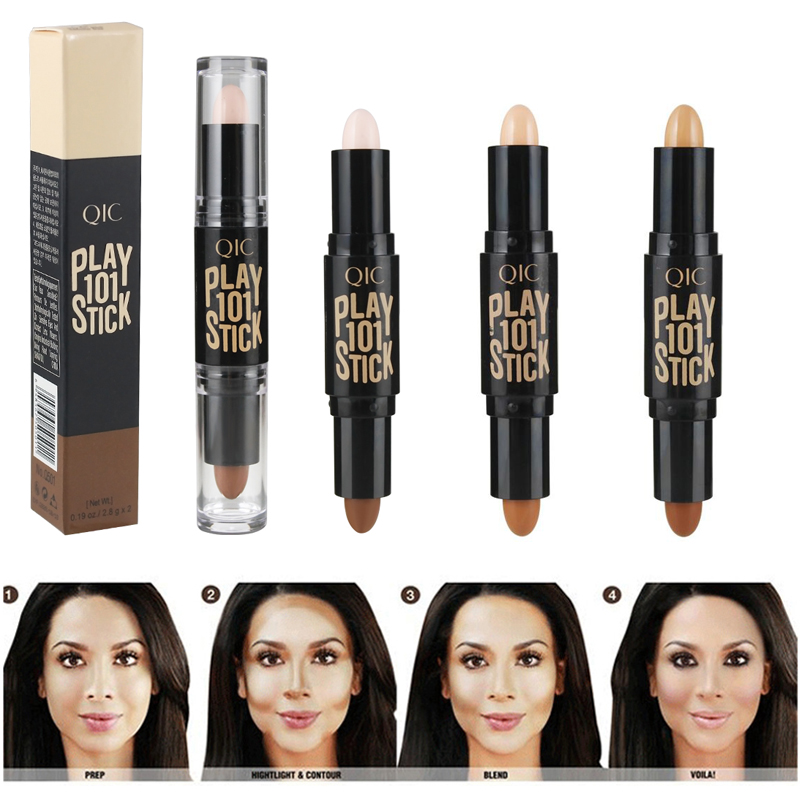 Brand Makeup Face Contour Bronzer Stick Double-end Long Lasting Face Highlighter Stick Makeup