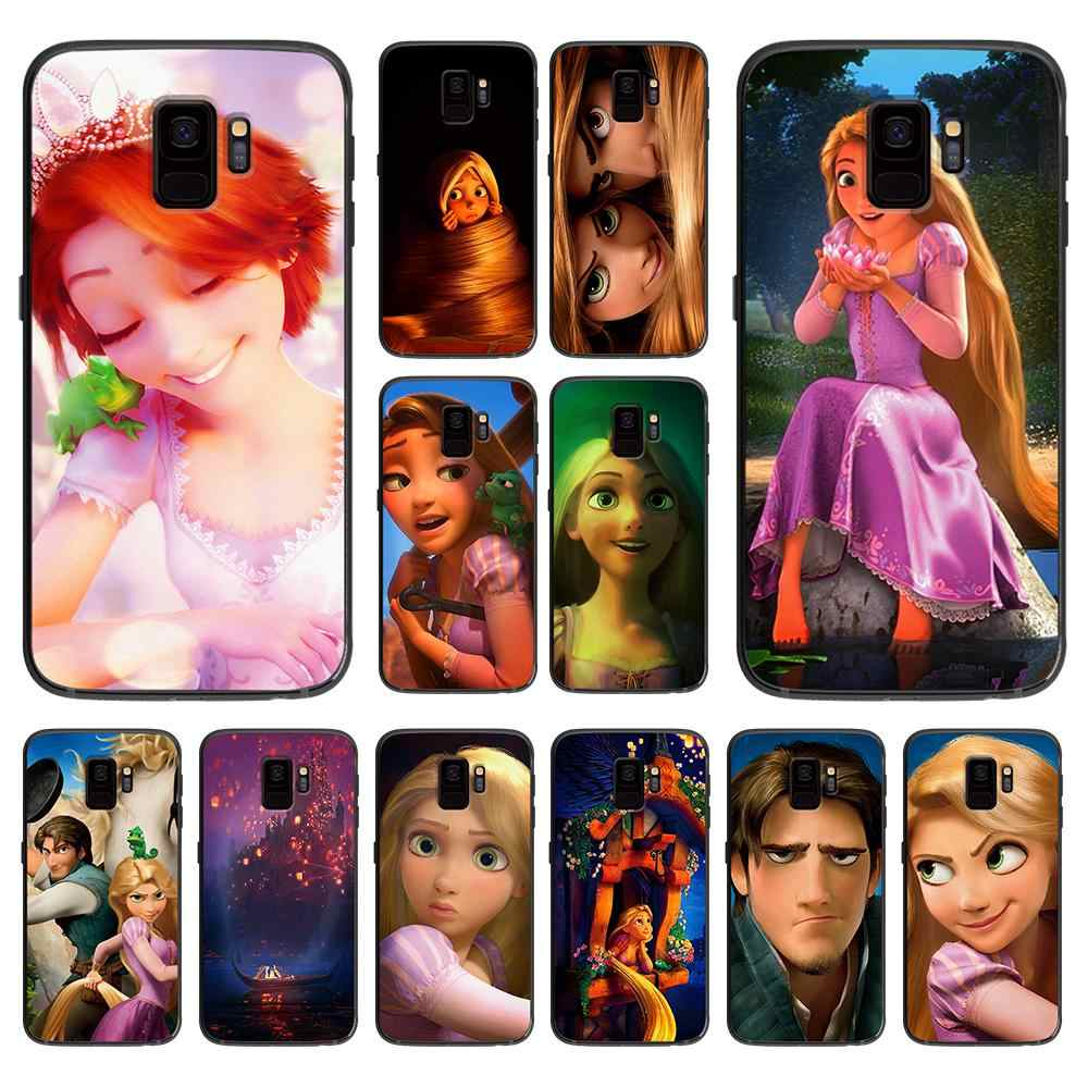 สวย rapunzel party สำหรับ Samsung Galaxy A5 A6 A7 A8 A9 2018 2019 Plus M10 M20 M30 Soft case