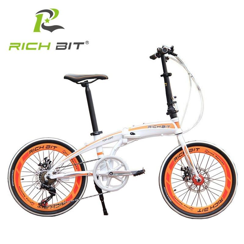 """""""RichBit 20"""""""" Мини Складной Велосипед Быстрое Освобождение Складной Велосипед & Механические Дисковые Тормоза Складной Городской Велосипед 7 Скоростей Мини-Велосипедный Город"""""""