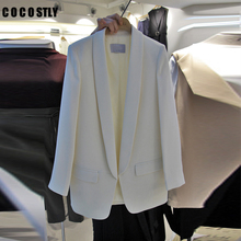 Fashion OL Ladies One Button Small Suit Blazer Women Solid C