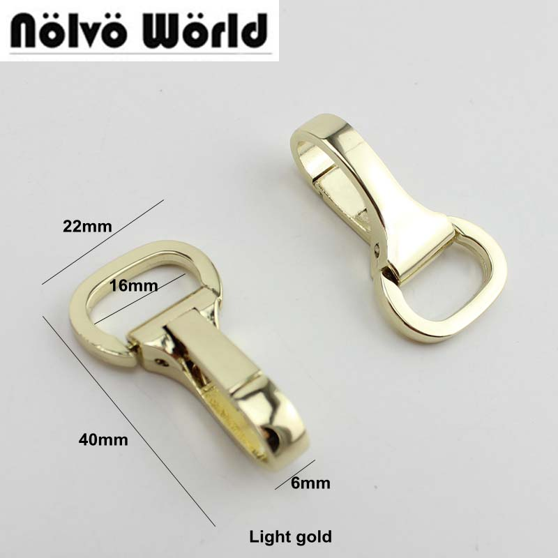 30pcs 3colors 16mm trigger snap hook hand bag gold swivel clasp hooks hardware accessory DIY owner 52567 16 hooked snap swivel 9 шт