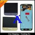 Envío libre 100% probado original para samsung galaxy s5 neo g903 g903f lcd digitalizador asamblea + sticker blanco/negro