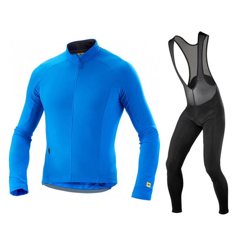 MAVIC New Breathable Long Sleeves Riding Wear Set Men`s Spring/Autumn Team Cycling Jersey Bicycle Clothing Ropa Maillot Ciclismo