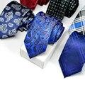 Moda de Seda del Poliester Rayado y Paisley Corbata 7 cm Flaco Corbatas Lazos para Hombre Corbatas Gravatas Boda Trajes de Negocios regalo
