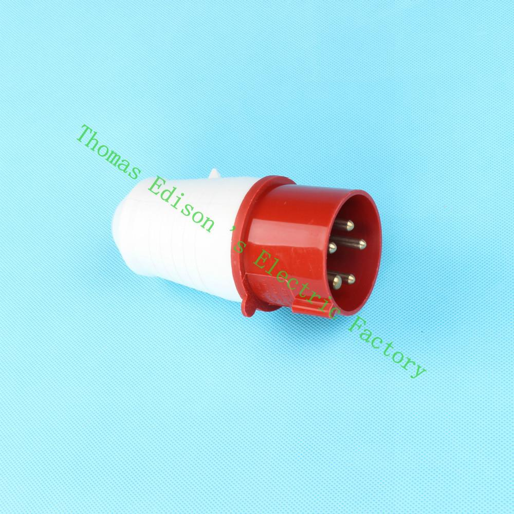 Industrial Plug Socket Coupler 025 CNQD-025 Red 32A 220V~415V 3P+E+N 5pin 60PCS/carton high quality ac 360 415v 16a ie 0140 4p e free hanging industrial plug red white