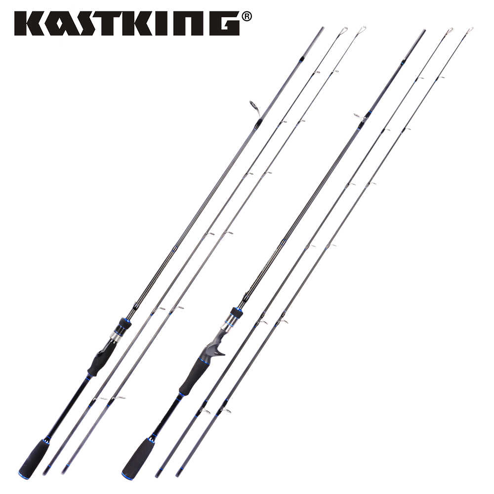 KastKing Cadet Spinning Casting Fishing Rod with 24-Ton Carbon and Double Tips for Lure Rod Line Weight 6-20lb Lure Weight 5-28g