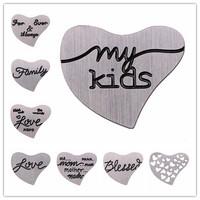 Hot!!20pcs/Lot Stainless Steel Floating Locket Heart Plate,Window Plate Fit for Heart Floating Lockets Free Shipping WP06