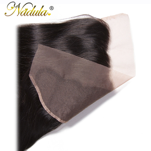 Image 5 - Nadula Hair 13x4 Brazilian Straight Hair Lace Frontals 10 20inch Free Part Closure 130% Density Remy Hair Free Shipping