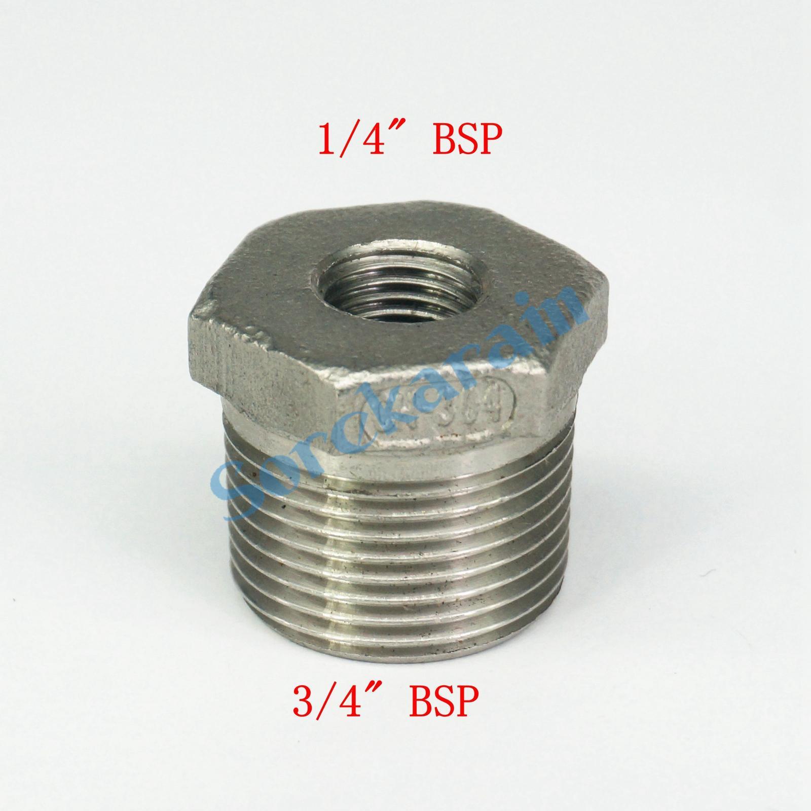 """304 conector de montaje de Acero Inoxidable Tubo Recto Adaptador 4/"""" BSP macho"""