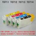 71 T0715 T0711 Многоразового картридж для EPSON Stylus SX215/SX218/SX400/SX405/SX405WiFi/SX410/SX415/SX515W SX510W принтера