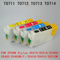 71 T0715 T0711 многоразовый чернильный картридж для EPSON Stylus SX215/SX218/SX400/SX405/SX405WiFi/SX410/SX415/SX510W SX515W принтер
