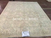 Free shipping 9'X12' 70Lines Hand knotted Wool Oriental oushak carpet handmade antique oushak rug