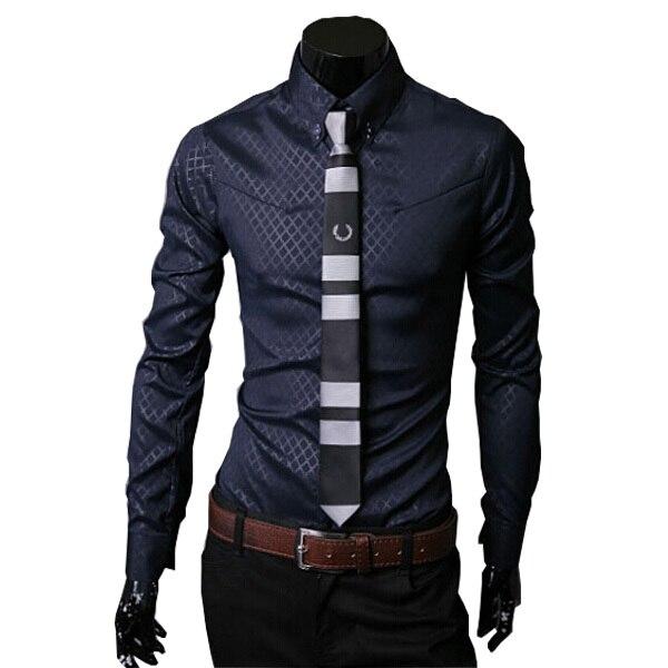 Nuevas Llegadas hombres de la camisa camisa masculina sociales chemise homme camisas casual slim fit mens camisas de vestido más el tamaño M-3XL