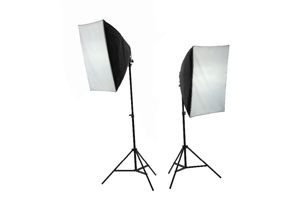 2*Soft Box Photography Lighting Kit Continuous Lighting System Photo Studio Equipment Photo Model Portraits Shooting Box