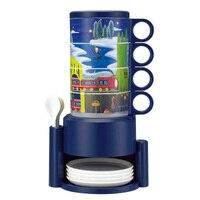 Creative Personality Rainbow Set Mug Fashion High End Gift Mug Star Starbucks Coffee Mug With Spoon