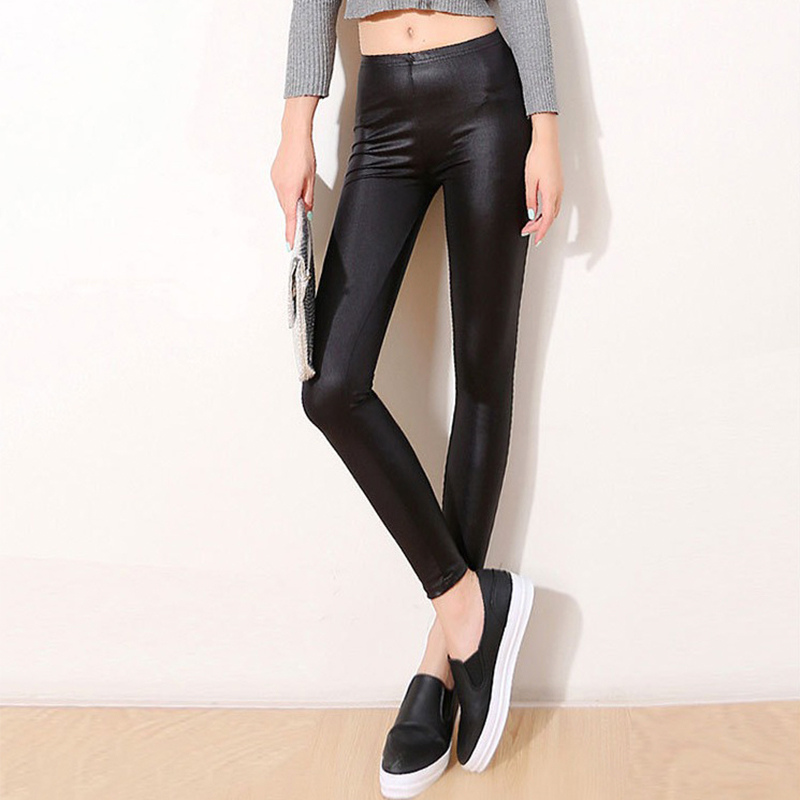 Women Pants Trousers Sexy Slim Shiny Fitness Faux Leather   Legging   2019 NEW