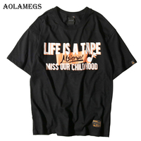 Aolamegs T Shirt Men Music Note Letter Men S Tee Shirts O Neck T Shirt Cotton