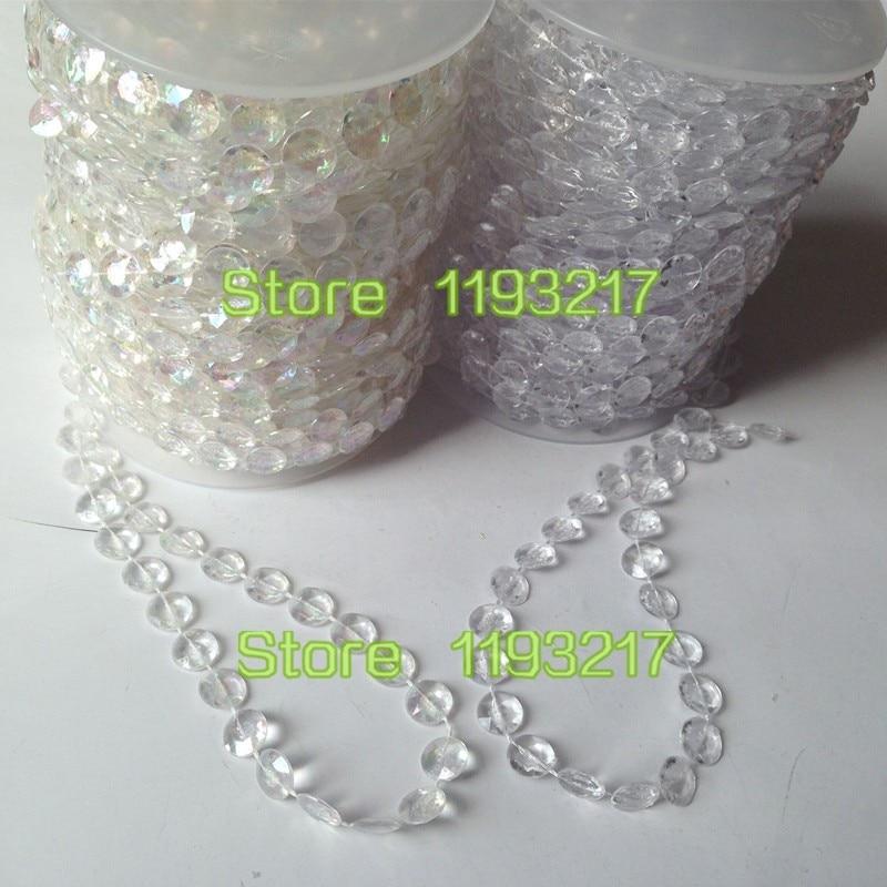 27Ft Diamond Clear Hanging Crystal Acrylic Gemstone Bead String Garland Strand
