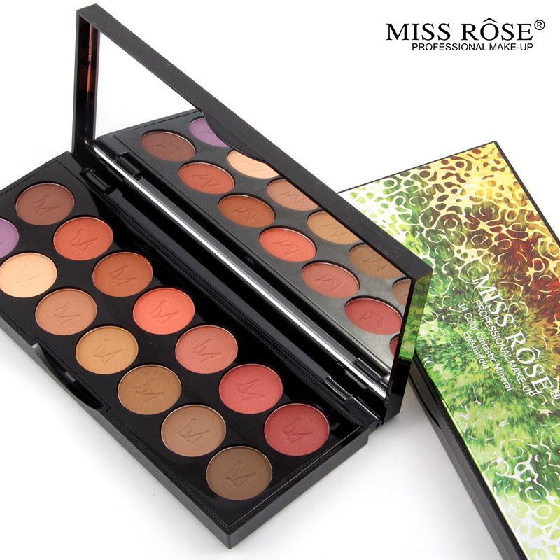 2016 MISS ROSE Shimmer 14colors diamond bright colorful eye shadow super flash paleta Glitter eyeshadow pallete matte Eyeshadow1