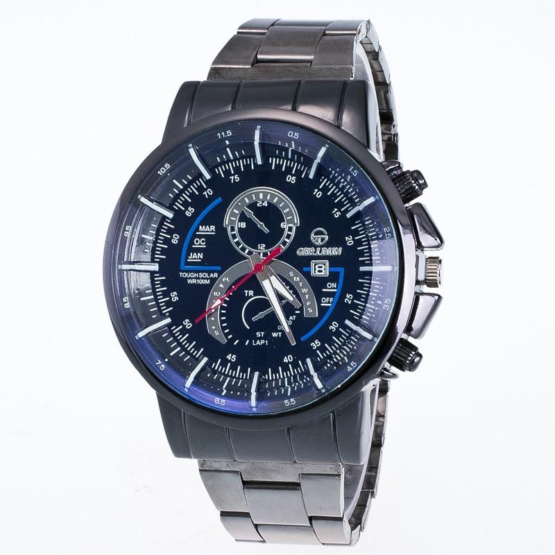 Herrenuhren Uhren Aufstrebend Herren Uhren Neue Luxus Uhr Mode Edelstahl Uhr Für Mann Quarz Analog Armbanduhr Orologio Uomo Heiße Verkäufe Drop Schiff SorgfäLtige Berechnung Und Strikte Budgetierung