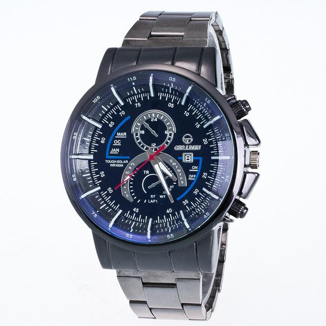 Men's  Luxury Fashion Stainless Steel Watch