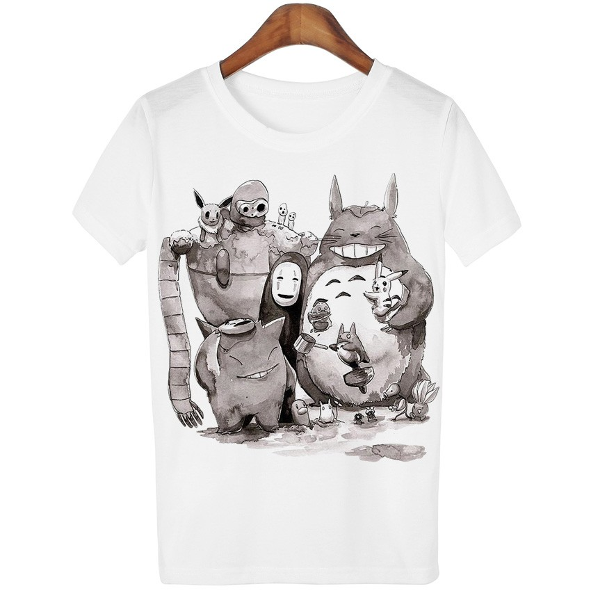 HTB1NdevLXXXXXaWXFXXq6xXFXXXL - New Cute Totoro T shirt Women Cartoon Casual Tops Tees