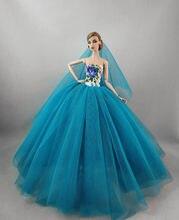 939799cda61ebe3 Одежда для куклы Барби, вечернее платье принцессы, комплект одежды, отличный  рождественский подарок, платье для девочек, кукла Б..