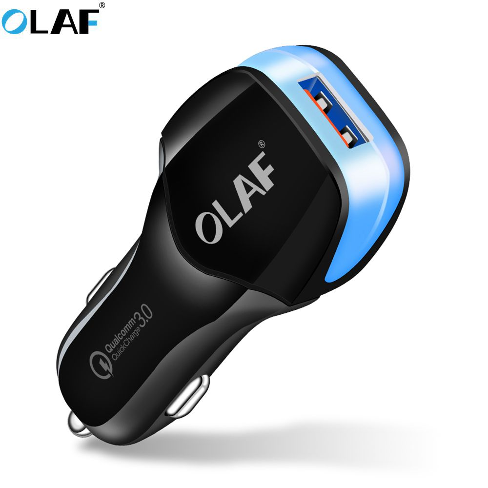 OLAF Quick Charge 3.0 USB Car Charger Fast Charging Travel Power Adapter For iPhone Samsung Mobile Phone Chargers For Huawei P20