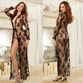 Hot Sexy Lace transparent adult sexy temptation sleepwear open file bandage Exotic Apparel robe intimates Baby Dolls