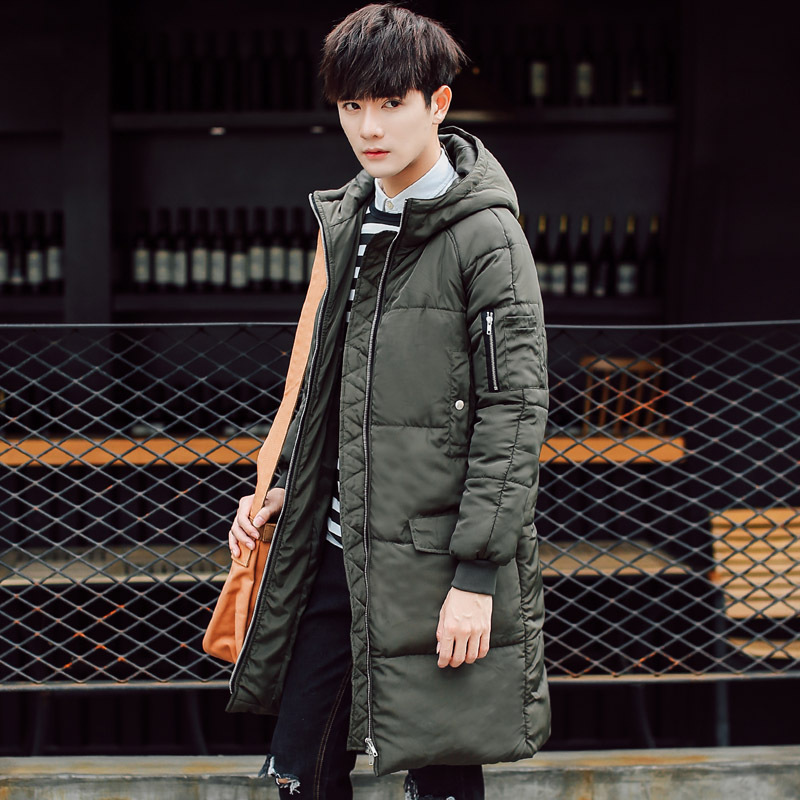 ФОТО New Winter Jacket Men Cotton Padded Parka Man Long Black Thick Warm Casual Hooded Male Jacket Coat Plus Size Men Winter Jacket