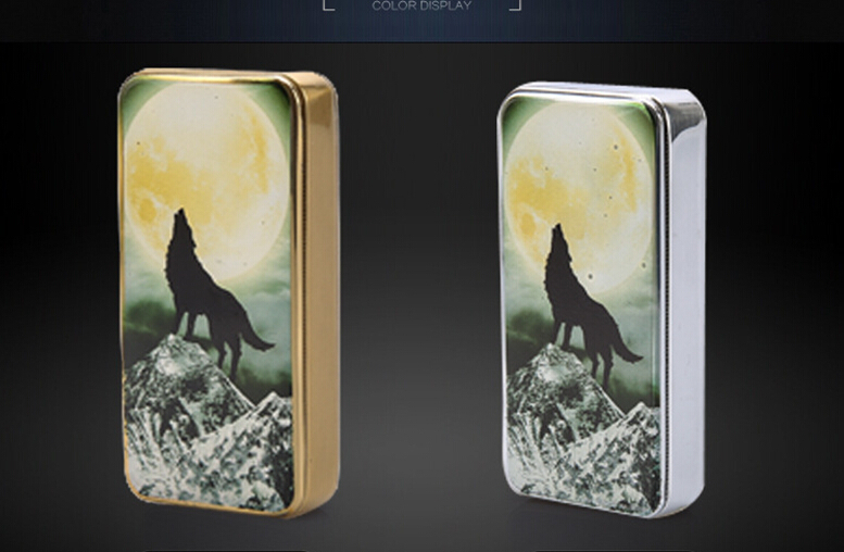 2015 New arrival Creative USB environmental protection windproof lighter wolf charging font b electronic b font