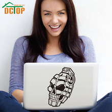 DCTOP Creative Design Skull Hand Weapon Wall Stickers Home Decor Removable PVC Laptop Sticker Art Murals creative home decoration girl s eyes design removable wall art sticker