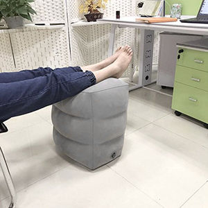 Image 5 - 2018 Newest Hot Useful Inflatable Portable Travel Footrest Pillow Plane Train Kids Bed Foot Rest Pad