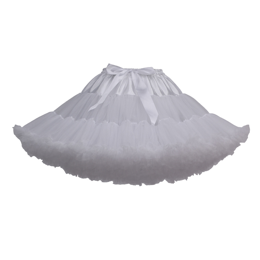 Lolita Petticoat Mini Moteriška Ruffle Tulle Puffy Underskirt Tutu - Vestuvių priedai