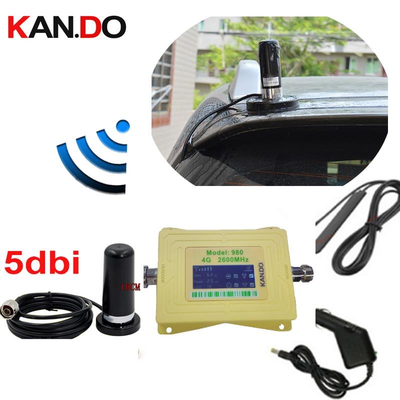 Grande base d'aimant anenna 60dbi fdd 4G 2600 mhz amplificateur de signal de téléphone portable répéteur de signal réseau 4G pour amplificateur LTE de voiture