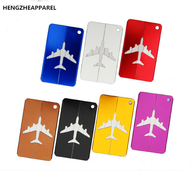 Whole Metal Travel Bag Tags Aluminum Luggage Tag Boarding Creative Aircraft Card Suitcase