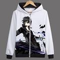 Anime Espada de Arte Em Linha Arte Espada Em Linha Com Capuz Hoodies Casacos sobretudos Camisolas casaco de Inverno Outono