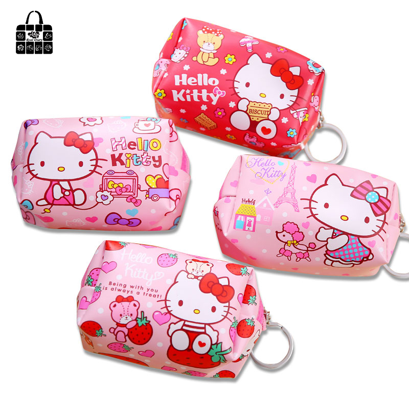 Rose Diary Cute Kitty PU Coin Purse Woman Makeup Case Portable Toiletry Bag Clutch bag Children cartoon Key Bag Storage bag Gift spark storage bag portable carrying case storage box for spark drone accessories can put remote control battery and other parts