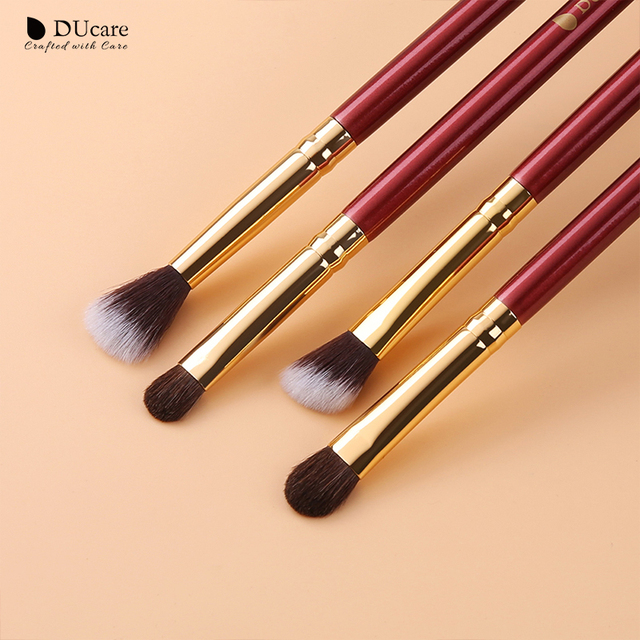 DUcare Makeup Brushes 6/7PCS Eye Makeup Brush Set Eyeshadow Blending Eyebrow Brush Natural Hair Cosmetic Tools Kit Essential 2