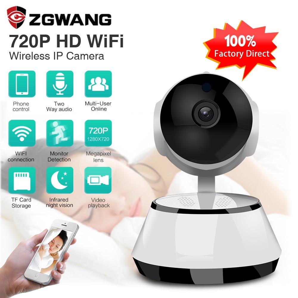 Zgwang 720 p hd sem fio wi fi ip câmera de segurança vídeo câmera de vigilância visão noturna indoor monitor do bebê câmera