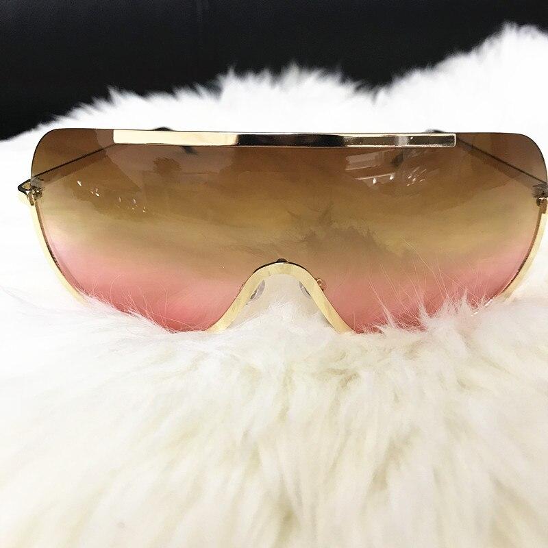 Emosnia Rimless Gold Clear Sunglasses Men Women 2017 Brand Designer Aviator Clear Sunglasses Big Frame Sun Glasses Lunette Femme 5