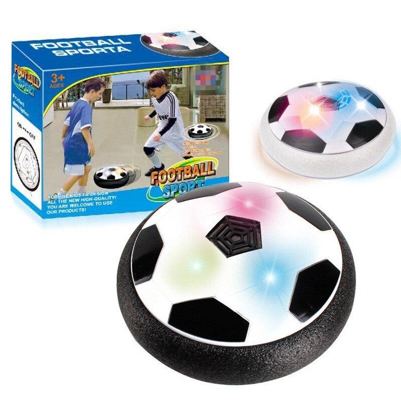 Populaire Hover Balle LED Lumière Clignotant Air Puissance Ballon De Football Disque Intérieur Football Jouet Multi-surface Planant Et Glisse jouets
