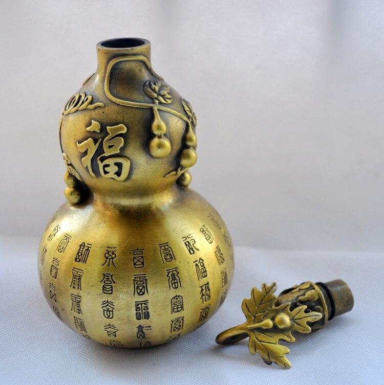 MOHOMES Çin Xalq Pirinç oyma FengShui Gourd Cucurbit Uğurlu - Ev dekoru - Fotoqrafiya 4