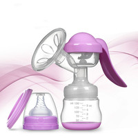 Manual Breast Pump Powerful Baby Nipple Suction 150ml Feeding Milk Bottles Breasts Pumps Bottle Sucking