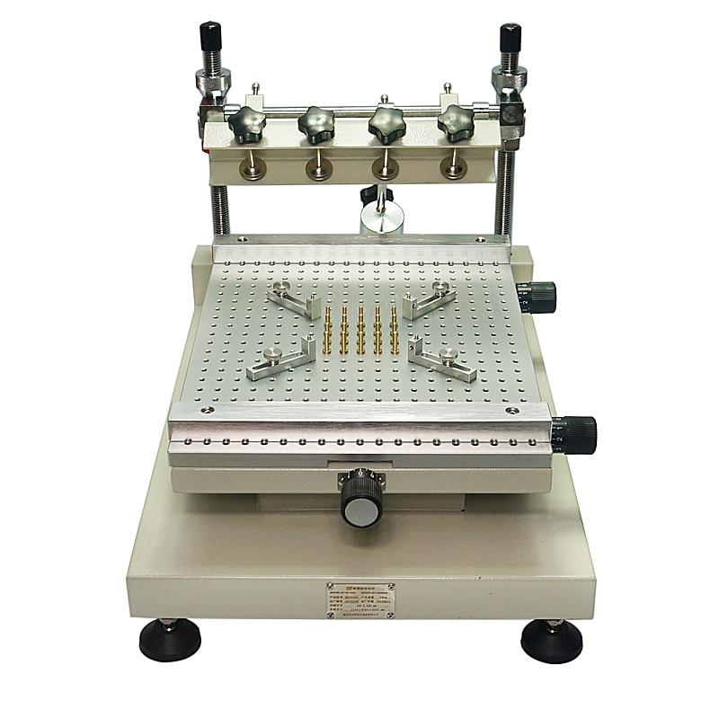 Puce De Réparation ZB3040H Imprimante Pâte À Braser Manuel Sérigraphie Imprimante Rouge Colle Machine D'impression.